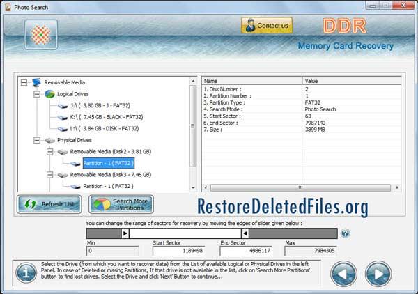Windows 7 Restore Memory Card Files Software 5.3.1.2 full